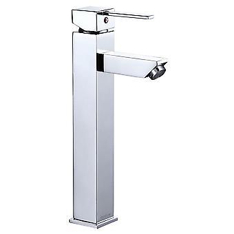 Aquaterior Modern Tall 1 or 3 Hole Bathroom Faucet Single One Handle Under Mount Mixer Sink Faucet Chrome DIY (CUPC NSF)