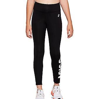 Asics GPX Kids Girls Graphic Legging Tight Trouser Pant Black