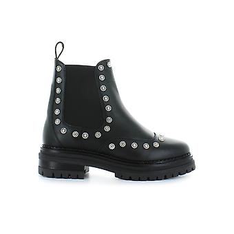 STOKTON BLACK LEATHER CHELSEA BOOTS WITH STUDS