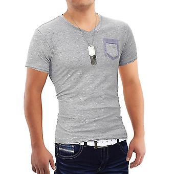 Mannen korte mouw t-shirt Polo Stretch Slim fit Clubwear Shirt zak Bull