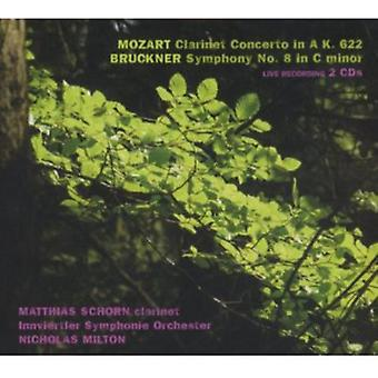 Mozart/Bruckner - Mozart: Clarinet Concerto in a, K. 622; Bruckner: Symphony No. 8 in C Minor [CD] USA import