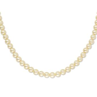 Gold tone Fancy Lobster Closure Cultura Glass Pearl 30inch Necklace Jewelry Gifts for Women