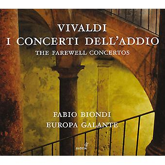Vivaldi / Europa Galante / Biondi - Farewell Concertos [CD] USA import