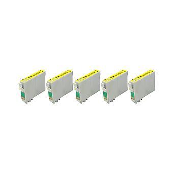 RudyTwos 5 x korvaaja Epson Stag muste yksikkö Yellow(ExtraHighYield) yhteensopiva Stylus B42WD, BX525WD, BX535WD, BX625FWD, BX630FW, BX635FWD, BX925FWD, BX935FWD, SX525WD, SX535WD, SX620FW, Workf