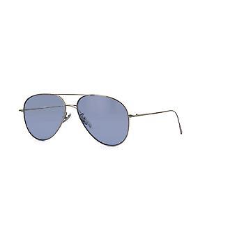 Cutler and Gross 1266 SUN PPL-PB Palladium Plated/Pale Blue Sunglasses