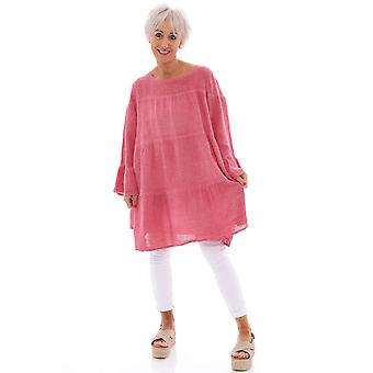 Made In Italy Cleeve Tiered Tunic