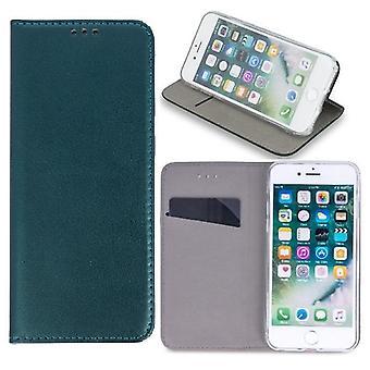 Samsung Galaxy A21s - Smart Magnetisk mobil tegnebog - mørkegrøn