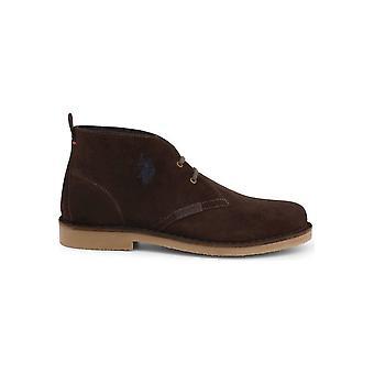 الولايات المتحدة بولو Assn. - أحذية - أحذية الدانتيل متابعة - MUST3119S4_S19A_DKBR - الرجال - السرج براون - الاتحاد الأوروبي 43