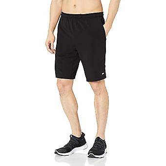 "Essentials Men's Soft-Tech 9"" Training Short, Black, Medium"