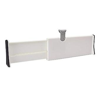 Adjustable Spring Loaded Expandable White Drawer Dividers For  Kitchen,