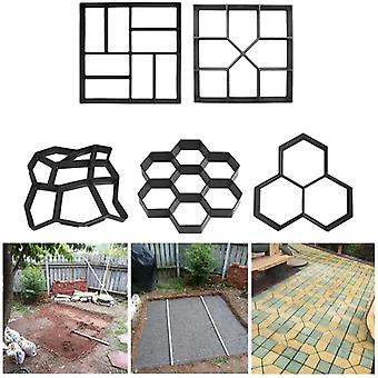 Manually Paving Cement Brick Concrete Molds Plastic Path Maker Garden Stone