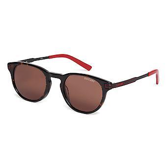 Ducati Unisex Sunglasses Rounded Design Metal Frame Dark Tinted Lenses