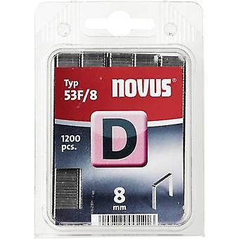 Type 53 F flat wire staple 1200 pc(s) Novus 042-0375 Clip type 53F/8 Dimensions (L x W) 8 mm x 11.3 mm