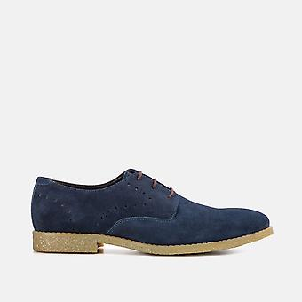 Wilson navy suede brogue