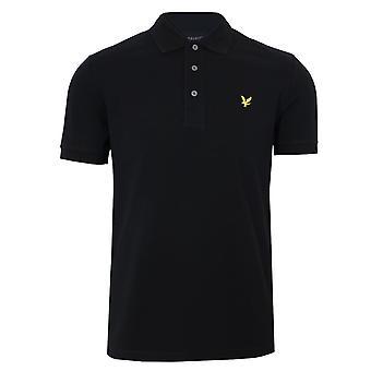 Lyle & scott men's jet black polo shirt