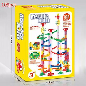 105/109 Pcs Kids Marble Run Race Set-building Blocks Construction Track