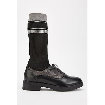 Zapatos Oxford Lurex Sock Insert