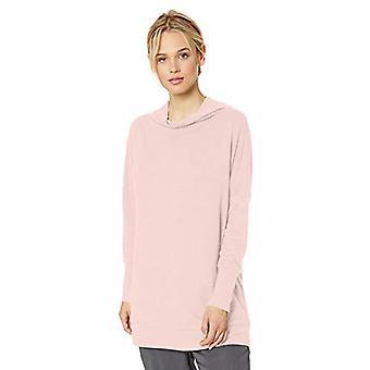 Brand - Daily Ritual Women's Cozy Knit Modern Funnel-Neck Tunic, Pink,...