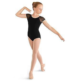 Mirella Girls Soft Mesh Cap Sleeve Dance Leotard, Lilac, Size 8-10