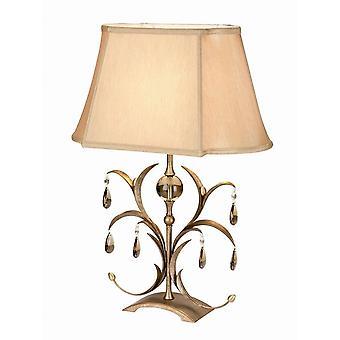 1 lys bordlampe metallisk med bronzeskærm