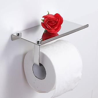 Wall Mounted Toilet Paper And Stainless Steel Tissue Holder