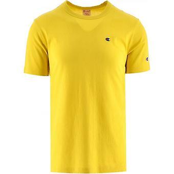Champion Yellow Crew Neck T Shirt