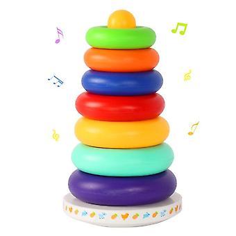 Musik Rainbow Circle Tower-lager stapling Ringar- Pedagogiska