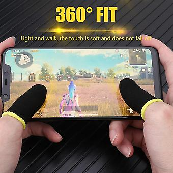 2stk Touch Screen Mobile Game Finger Sleeve Controller Åndbar Anti-sved Sensitive Shoot Fingers