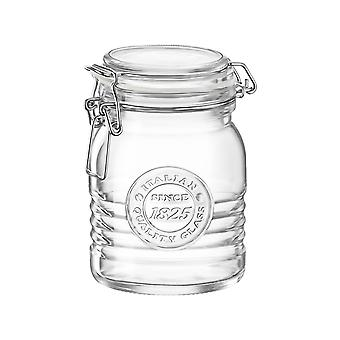 Bormioli Rocco Officina 1825 Glass Storage Jar with Airtight Clip Lid - 500ml