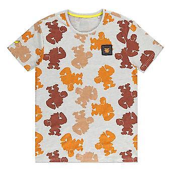 Nintendo Donkey Kong silhouet all-over print T-shirt mannelijke medium grijs