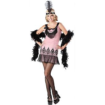 InCharacter Flirty Flapper Pink Costume 12-13 Years