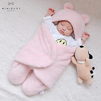 Säugling weiche Herbst Winter Schlafdecke Neugeborene Baby Kleidung warm Fleece