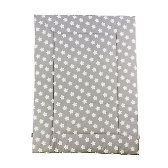 Puckdaddy cobertor rastejante Finja 140x100cm com padrão de ponto estrela branca em cinza