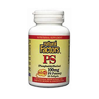 Natural Factors PhosphatidylSerine, 100 mg, 120 Softgels