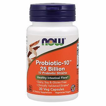 Now Foods Probiotic-10 25 Billion, 30 Veg Caps