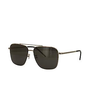 Saint Laurent SL 376 Slim 001 Silver/Grey Sunglasses