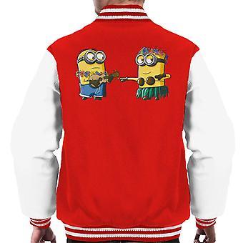 Despicable Me Minions Hula Men's Varsity Jacket