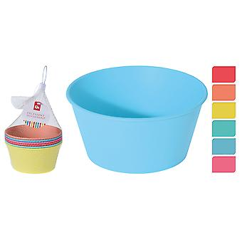 Excellent Housewares Plastic Bowl Set 6 Piece Assorted 179650960