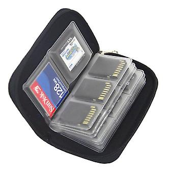 Memory Card Storage Bag Carrying Case Holder Wallet 22 Slots For Cf/sd/micro
