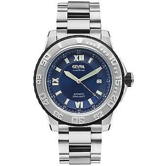Gevril Men's Seacloud Blue Dial Stainless Steel Watch