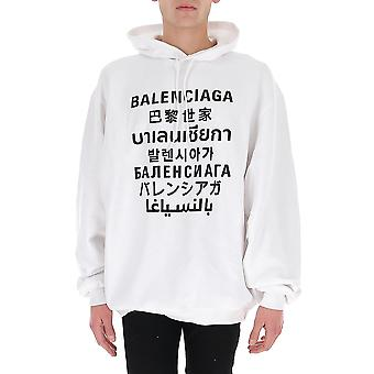 Balenciaga 641679tjvi69040 Mænd's Hvid/sort bomulds sweatshirt