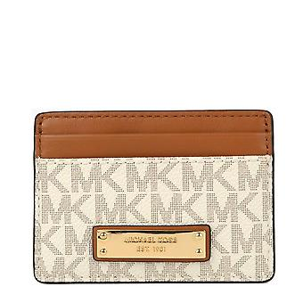 MICHAEL Michael Kors Jet Set Logo Card Holder Vanilla