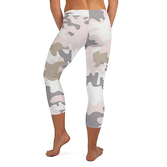 Seamless Pastel Camo Capri Leggings