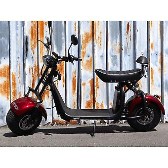 "Fatboy City Coco Smart E Electric Scooter Harley - 8 ""- 1500W - 20Ah - A Class - Red"