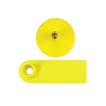 100 Pcs Cattle Ear Tags Yellow Small Animal Livestock Label