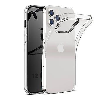 Coque Pour Iphone 12 Pro Max (6,7), Housse De Protection En Silicone De Haute Qualité, Transparent