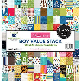 Bella BLVD Boy 12x12 Inch Cardstock Value Stack