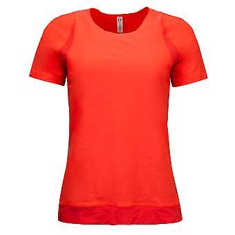 Под доспехи женщины Исчезают футболка Базовый слой Fitted Top Оранжевый 1324142 877