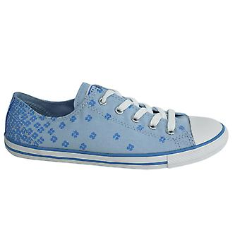 Converse Chuck Taylor Dainty Lace Up Blue Floral Womens Trainers 547150C B124B