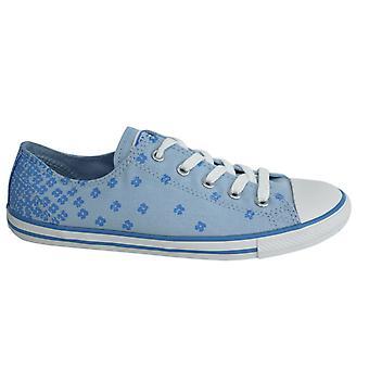 Converse Chuck Taylor Sierlijke Lace Up Blue Floral Womens Trainers 547150C B124B